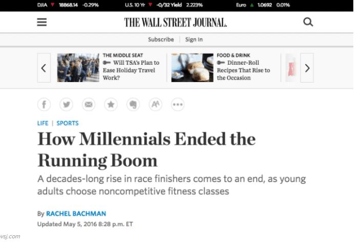 Millennials Running
