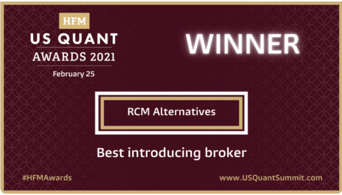 RCM Alternatives Awarded 8th Consecutive Best Introducing Broker by HFM